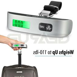 Portable Travel 110lb 50kg LCD Digital Hanging Luggage Scale