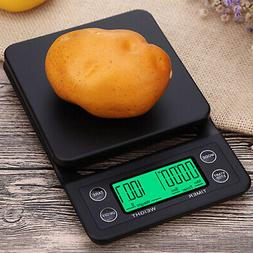 Digital Kitchen Food Coffee Weighing Scale + Timer with Back