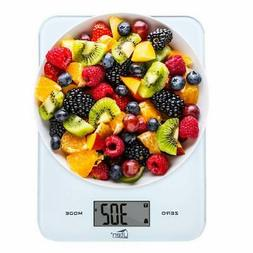 Digital Kitchen Food Scale with Back-Lit LCD Display, Temper