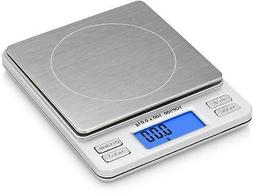Digital Pro Pocket Scale With Back-Lit LCD Display, Tare, Ho