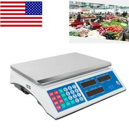 Digital Scale Price Computing Counting Weight Food Meat Prod