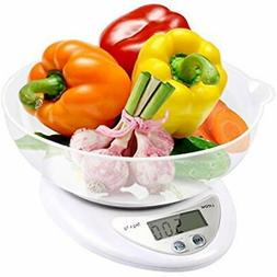 Digital Scales Food Scale, Kitchen Cooking Weight Bowl With