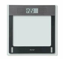 TAYLOR Taylor Electronic Glass Talking Bathroom Scale, 440 L