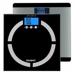 Electronic LCD Digital Bathroom Body Weight Scale Tempered G