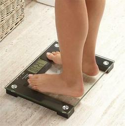 EXTRA-WIDE 550 LB CAPACITY LCD SCREEN TALKING BATHROOM SCALE