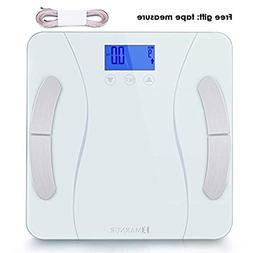 MARNUR Digital Body Fat Scale Weight Scale Bathroom Sc