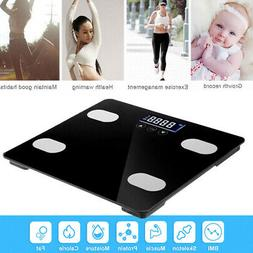 FB61 Black White Body Fat Scale Monitoring Health Household