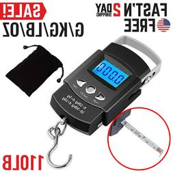 Fishing Scales Digital Fish Weight Scale Electronic Hanging