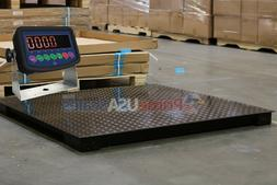 7,000 lb Capacity 1 lb Accuracy 4'x4' Floor Pallet Scale Ind