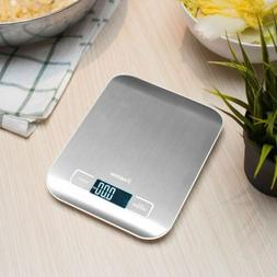 Food Digital Kitchen Scale 11lb 5kg Stainless Steel Electron