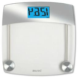 Taylor Precision Products Glass Digital Bath Scale, Clear