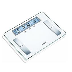 Beurer Glass Body Weight Fat BMI Calorie Consumption Analysis Bathroom Scale