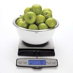 OXO Good Grips Stainless Steel Food Scale with Pull Out Disp