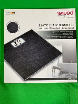 Beurer GS 203 Bathroom Scales Slate Scales-Black