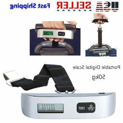 Handheld 50kg Digital Travel Weighing Luggage Scales Electro