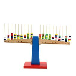 Kids Math Balance Beam Stacking Scale Kit for Intelligence D