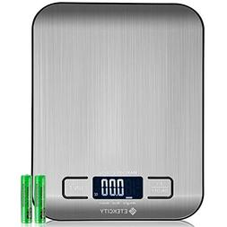 Etekcity Kitchen Food Scale Small Digital Multifunction Scal