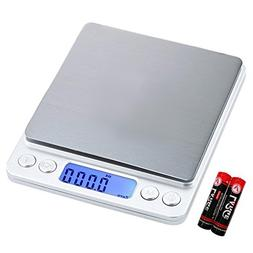 Pruk Digital Kitchen Scale Multifunction Food Scale, 500g/0.