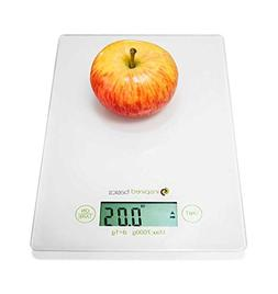 Inspired Basics Digital Kitchen Scale Slim Design Food Scale