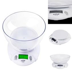 Kitchen Scale with Bowl for Food Digital Weight Grams and Ou