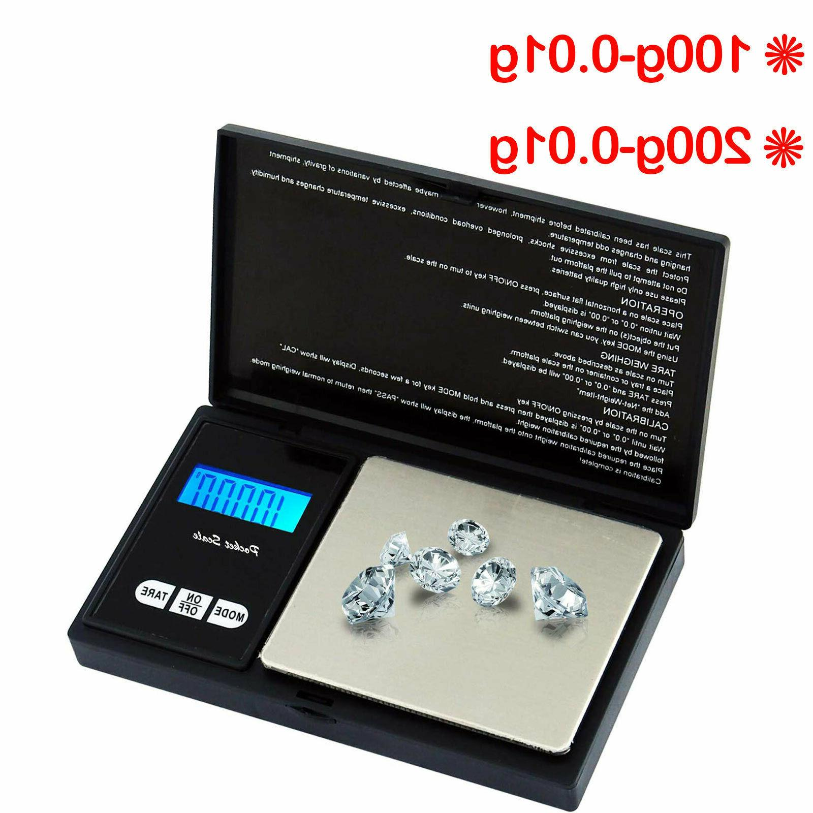 0.01G to Digital Electronic Jewellery Weighing Pocket Scales