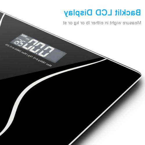 180KG Tempered Digital Electronic Body Bathroom Weight Scale