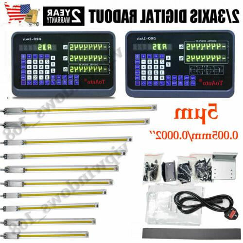 2 3 axis digital readout linear scale
