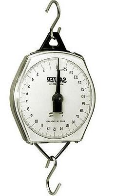 Salter Brecknell 235-6S-220 Mechanical Hanging Scale,220lb x