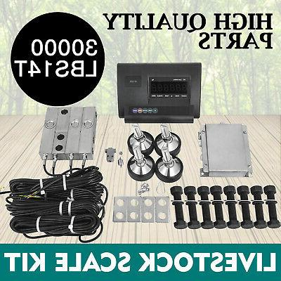 30000lbs livestock scale kit for animals waterproof