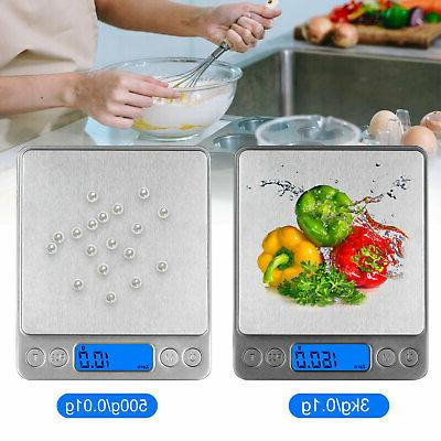 3000g x 0.1g Pocket Digital Scale Gold Weighing