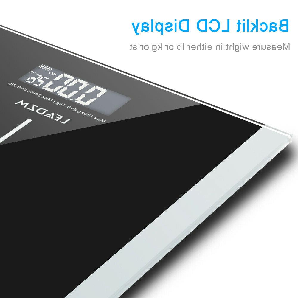 396LB LCD Personal Glass Bathroom Scale Body Weight Weighing Scales