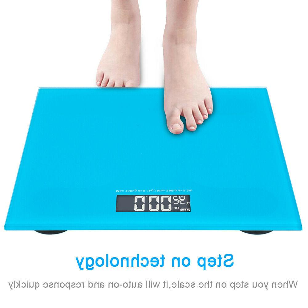 396LB Digital LCD Glass Bathroom Body Weight Weighing Scales
