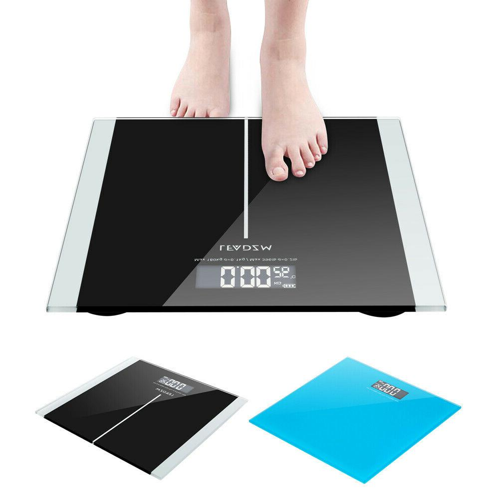 396lb digital lcd personal glass bathroom scale