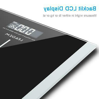 396lb 180kg LCD Digital Bathroom Weight Scale Tempered + Batteries