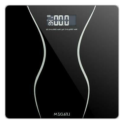 400 lbs Digital Bathroom Body Weight Scale LCD Tempered Glas