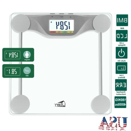 400lb Digital Body Scale Glass High Load