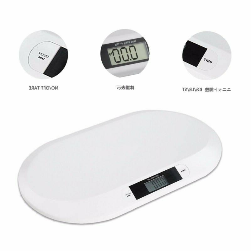 44 LBS Baby Scale Infant Electronic Cat Dog Scale White