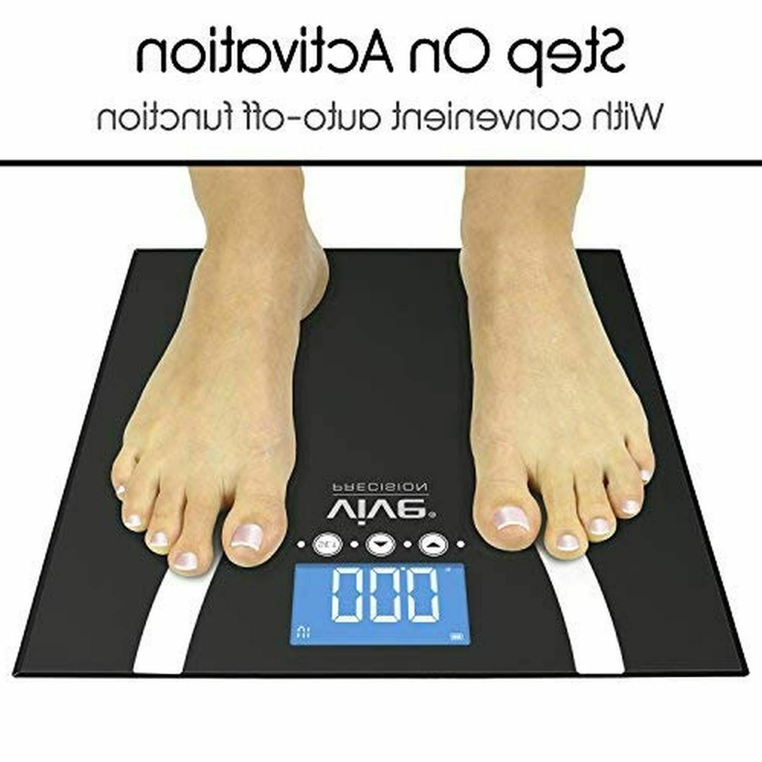 400lb LCD Digital Bathroom Smart Body Weight Scale Muscle