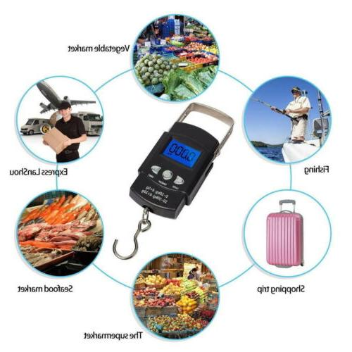 50KG Digital Fish Luggage Hook with Measuring Weight Scale