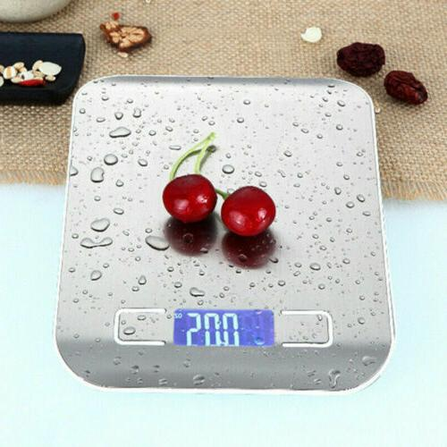 5kg digital lcd electronic kitchen scales stainless