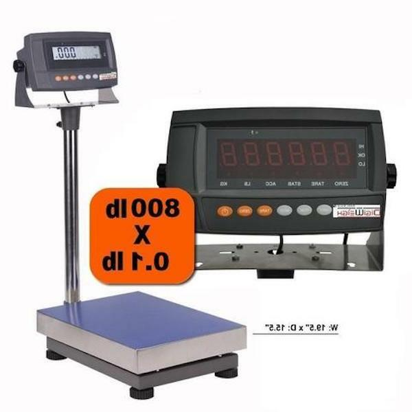 800 lb digital shipping scale industrial bench