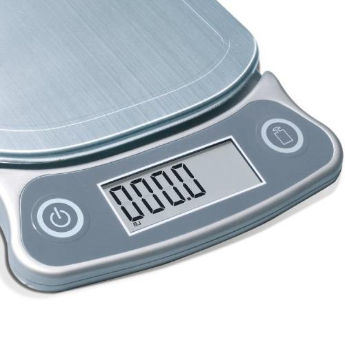 Eatsmart - Precision Digital Kitchen Scale - Stainless-steel
