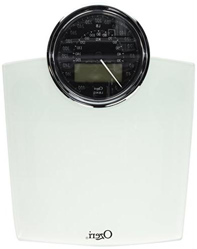 Ozeri Bathroom Scale with Electro-Mechanical Weight and 50 gram Sensor