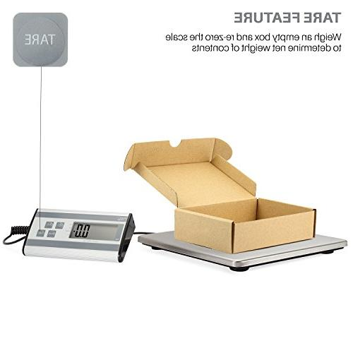 Smart Weigh Digital Heavy Duty Scale with Durable Steel lbs Capacity 6 oz Readability, UPS USPS Post Office Postal and Scale