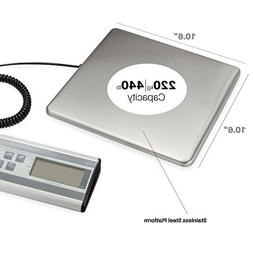 Smart Weigh Duty Postal Scale with Steel 440 lbs oz Post Scale and