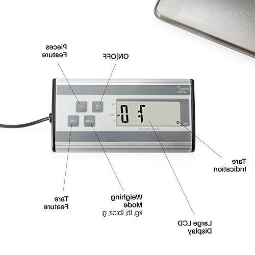 Smart Weigh Duty Shipping and Postal Scale Steel lbs Capacity oz Readability, Post Office Postal and Luggage Scale