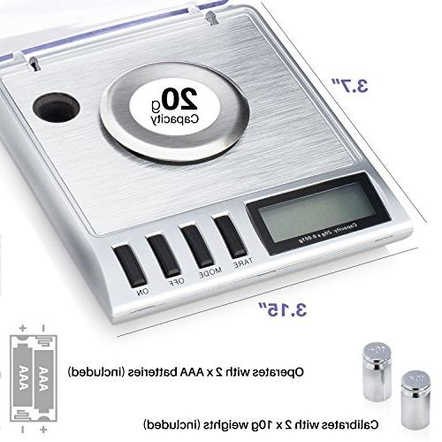 Smart Weigh High Precision Digital Jewelry 20 Calibration Weights