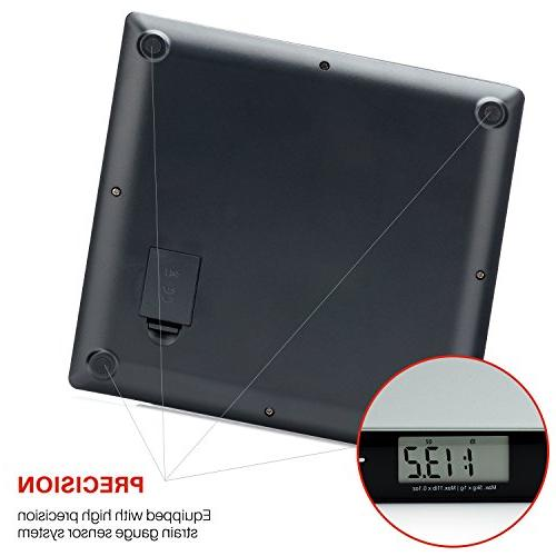 Smart Professional Postal with Tempered Glass Multiple Weighing Modes and Tare Function, Silver Scale,