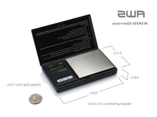 American Weigh Scales 250 Signature Series Black Pocket