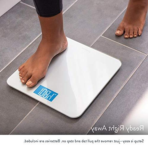 Digital Body Weight GreaterGoods, Glass Backlit Display, Precision Measurements